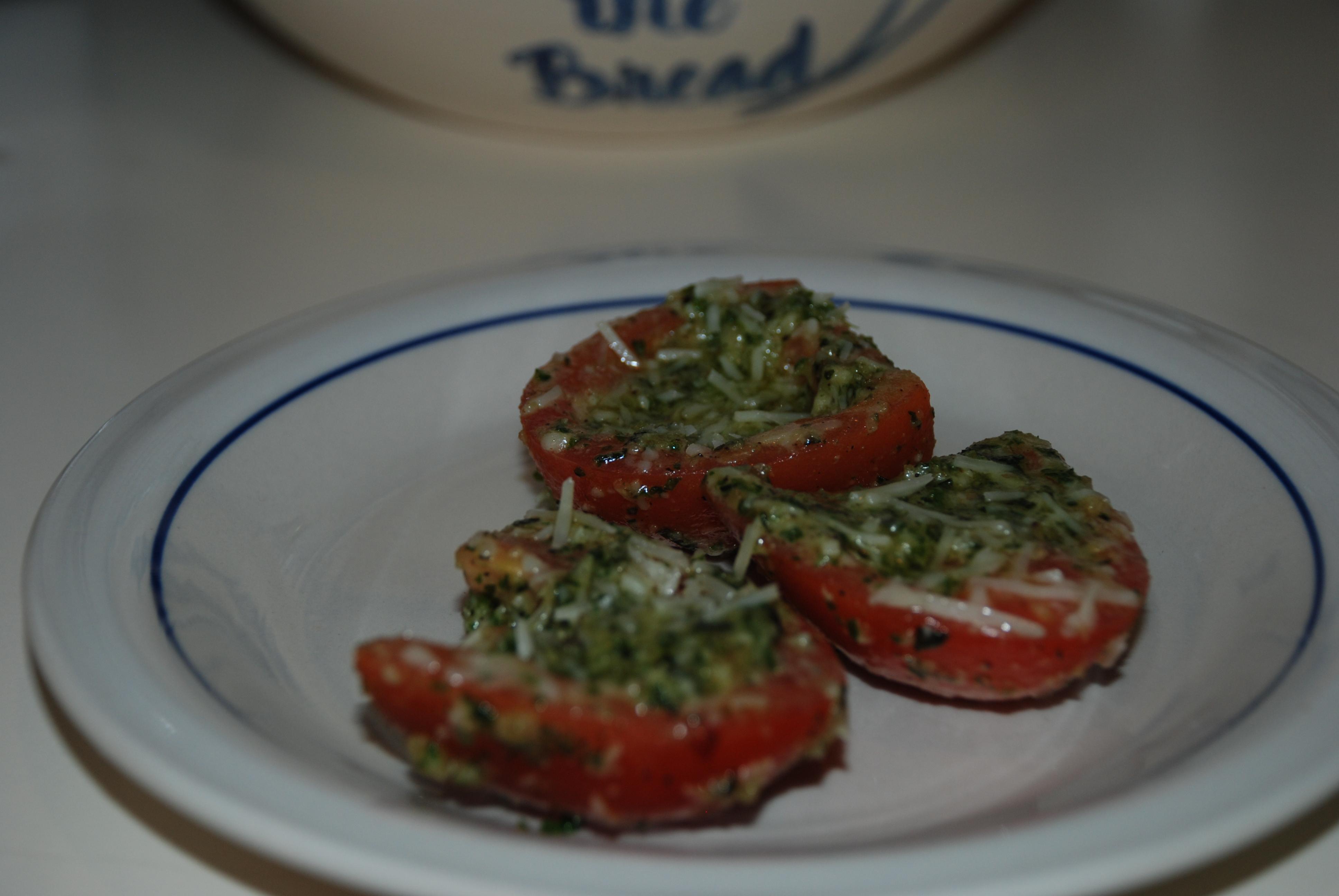 Tomato Pesto Bake | recipesfrommykitchen