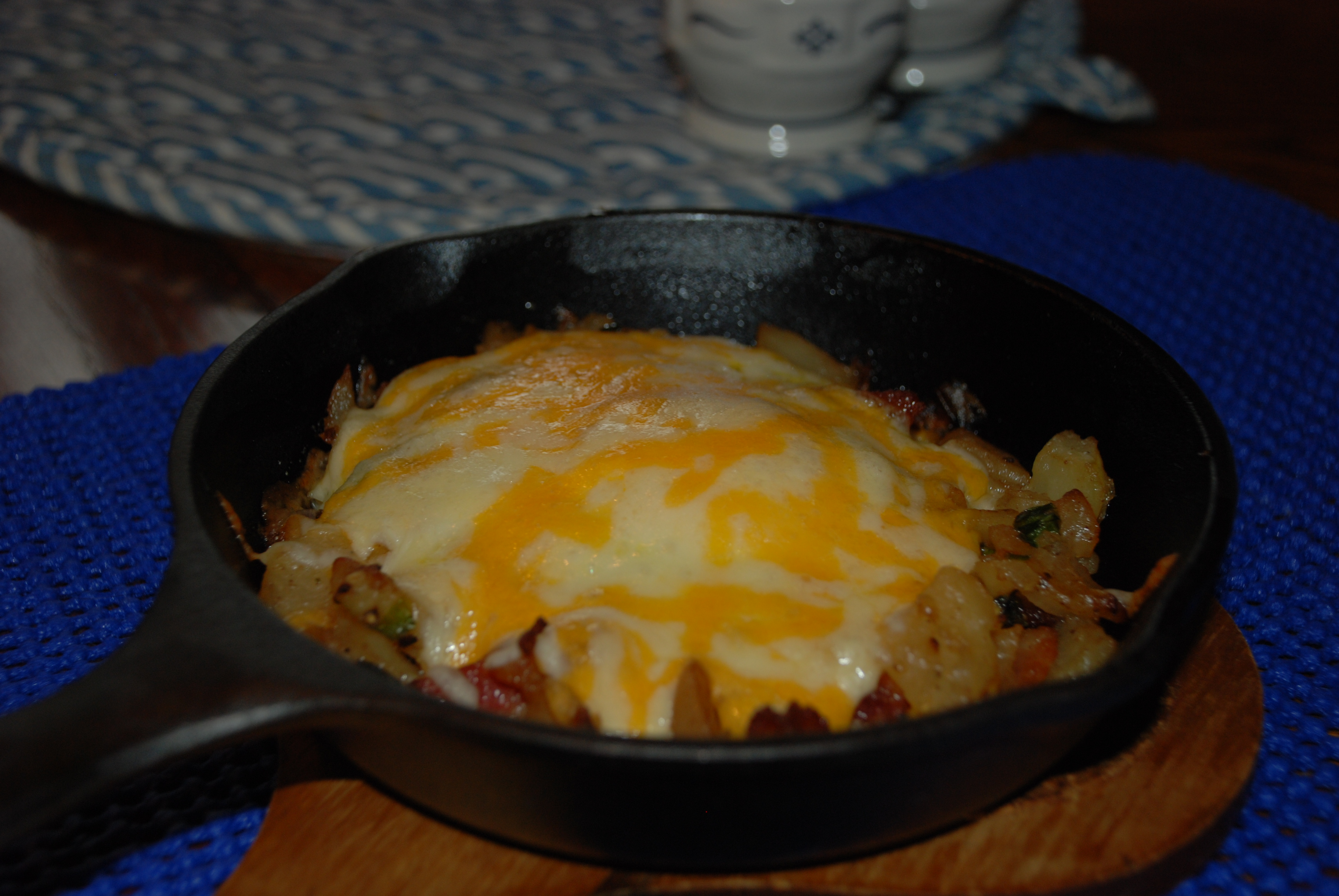 Breakfast Skillet With Green Onion Home Fries Recipe ...