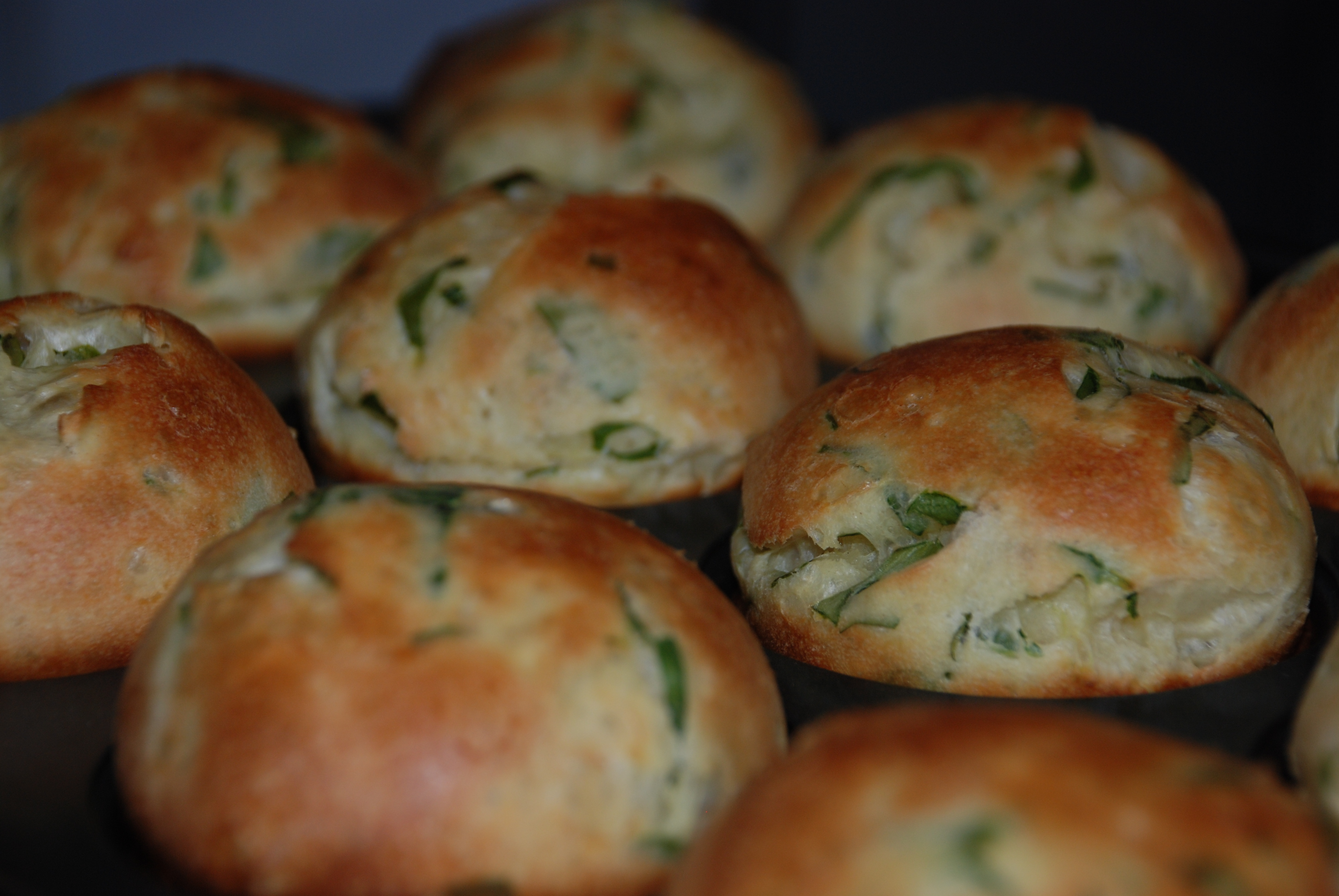 Spinach & Garlic Popovers | recipesfrommykitchen