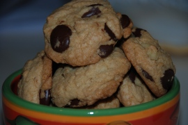 Thick & Chewy ChocolateChip Walnut Cookies