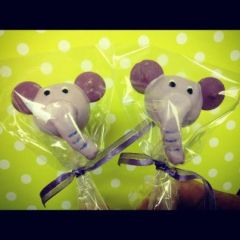 Purple Elephant Cake Pops