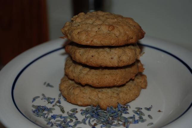 Lavender Oatmeal Cookies