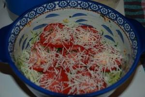 Purple Basil Pesto & Tomato Bake