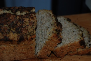 Purple Basil Pesto Beer Bread