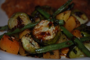 Roasted Bourbon Glazed Vegetables